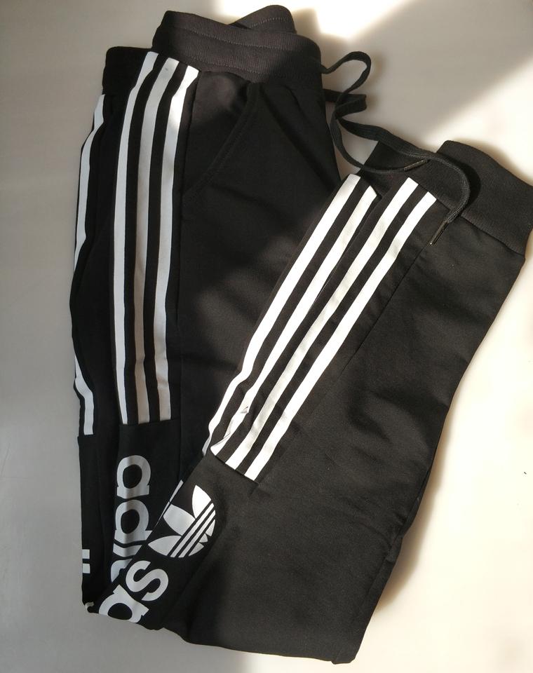 最好穿的男女款  应季好货 仅108元   Adidas 阿迪达斯三叶草     黑色收口卫裤