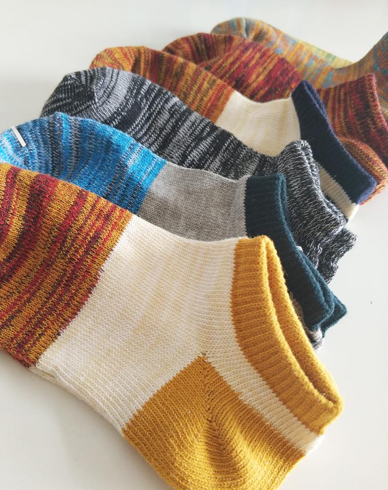 透气舒服的彩线船袜 仅4.6元一双   穿着心情都会好 !!小日本订单   超好品质 纯棉线船袜