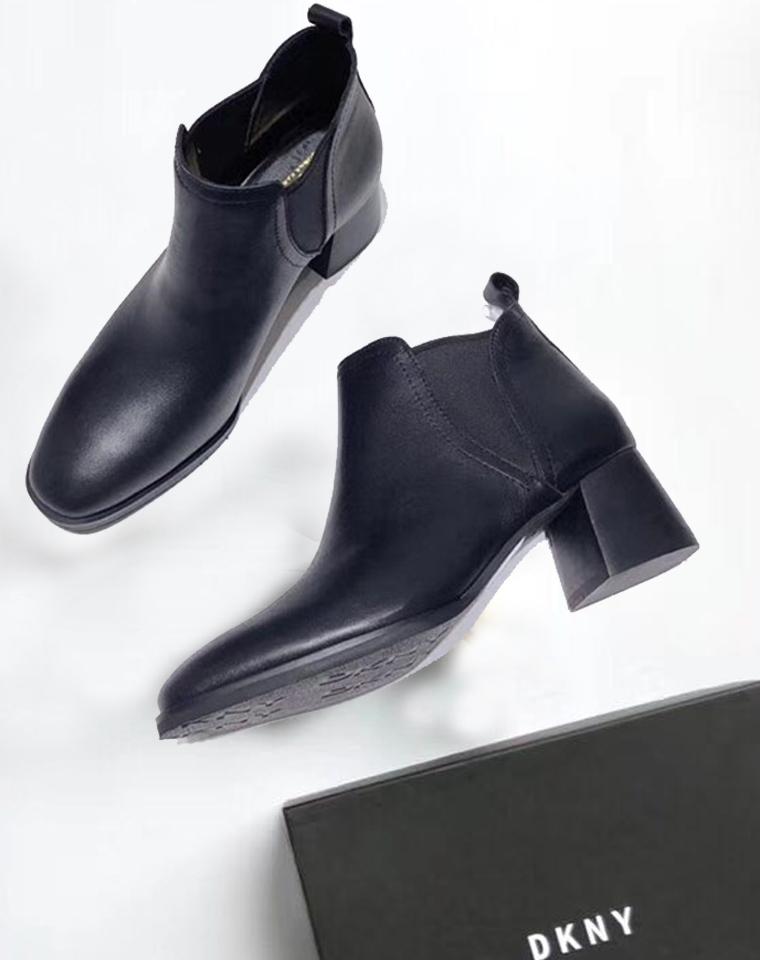 孩儿妈专供  仅298元  美国DKNY纯正原单  2018秋冬新款 马蹄跟 圆头 短靴