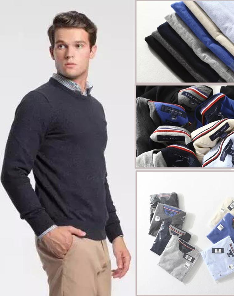 官网强货 仅118元  美国Tommy Higher纯正原单 最新  圆细针织棉线衫 套头毛衣