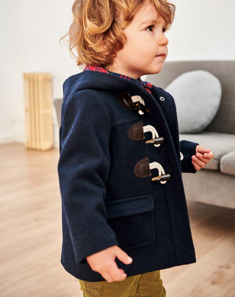 亲妈必收 男女童都很赞  仅69元 土耳其LTB纯正原单  大中小童儿童柔软舒适修身百搭连帽羊毛呢大衣