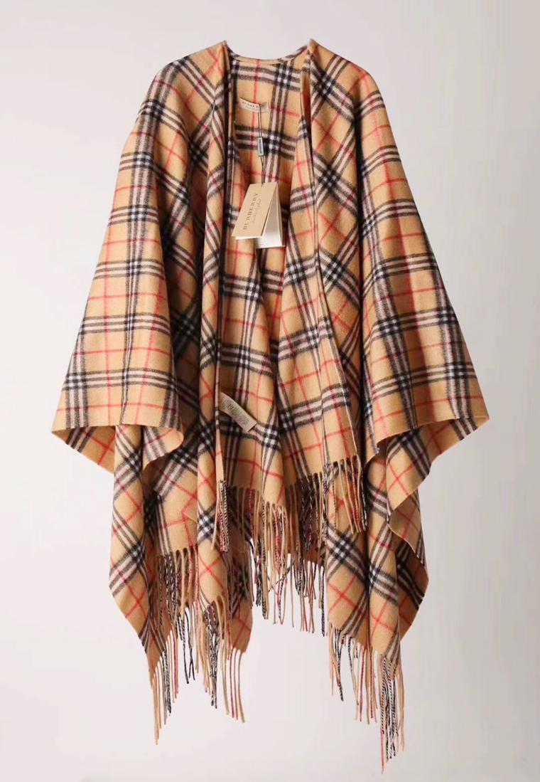 大方走专柜 没有更好 仅388元  Burberry Vintage系列纯正原单   女士羊绒混纺披肩
