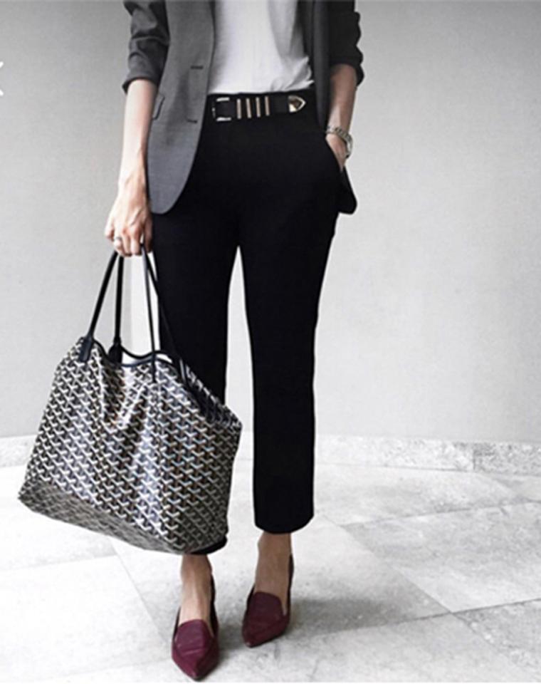 无须代购  大方走专柜  仅448元  468元  法国Goyard 戈雅  经典子母购物袋经典字母印花单肩包
