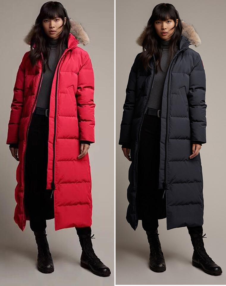 最保暖的长款大鹅  仅1268元   Canada Goose 加拿大鹅  修身女士长款  鸭绒加厚羽绒服
