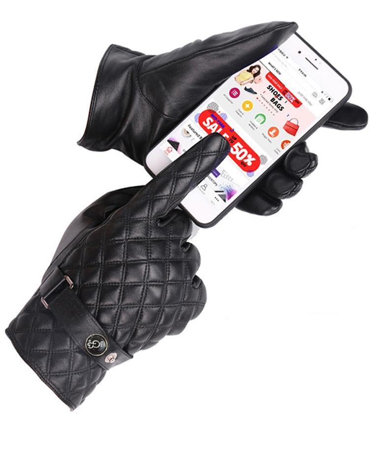 男款可触屏  仅108元  UGG纯正原单   小羊皮360度触屏手套 内里加绒