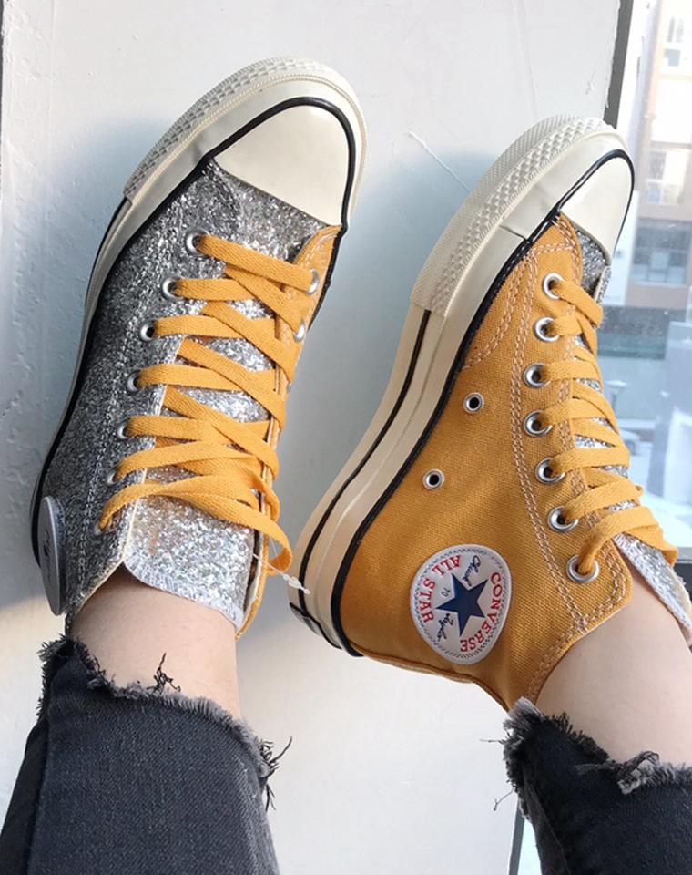自带滤镜  男女款  凹造型必备 仅79元  converse纯正原单  联名鸳鸯高帮帆布硫化鞋
