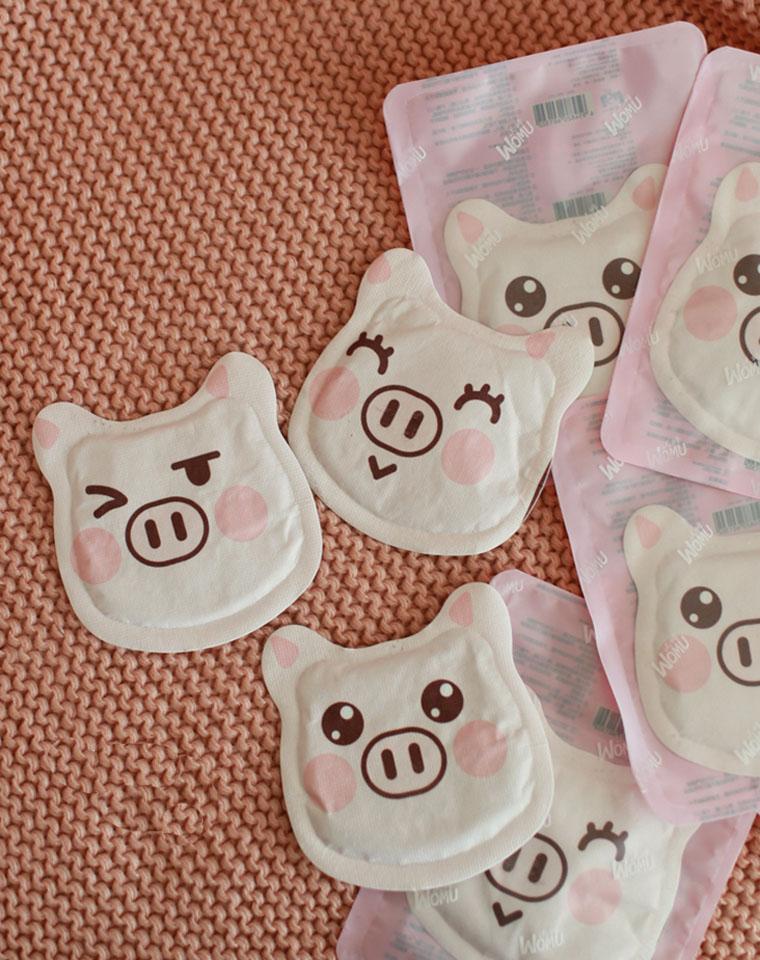 9块9包邮   2个一组   超贴心 超温暖    冬日保暖小猪粉嫩暖宝宝暖身贴暖宫贴暖贴