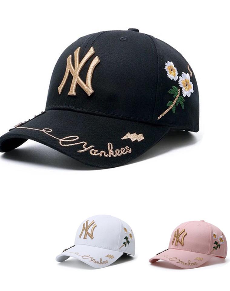 品质棒球帽 仅59元 MLB纯正原单 19年春夏最新  花朵 蜜蜂棒球帽