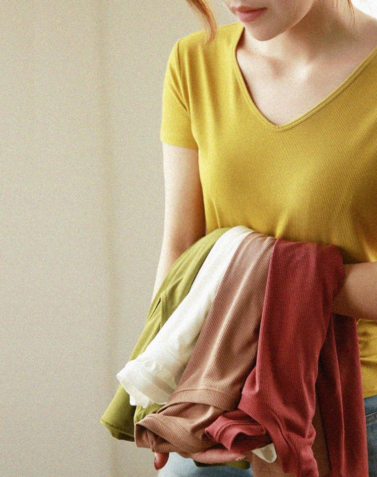 最靠谱的螺纹T  免烫不掉色不变形!!!68元一件  2件立减5元   高弹凉爽好打理螺纹棉T恤