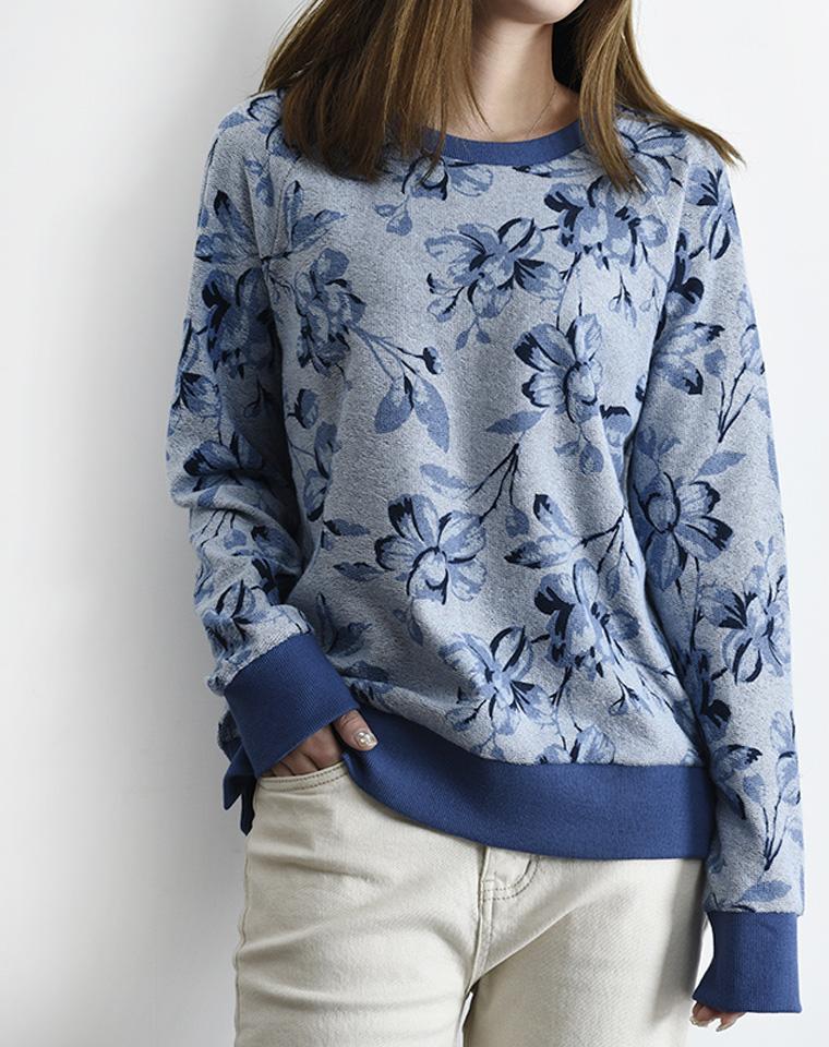 海淘最热门品牌 仅68元  美国 Ralph lauren拉夫劳伦  淡雅青花 舒适毛圈棉,圆领套头卫衣