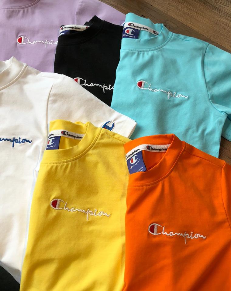 【给宝贝们的】 仅44.9元  champion冠军 儿童短袖t恤 男女宝宝夏季超美彩色刺绣字母