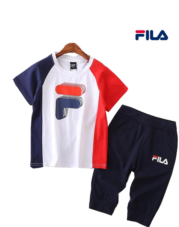 亲妈必收 给小爷们の  好穿的中裤短袖套装 仅78元 Fila纯正尾单一批 短袖中裤套装