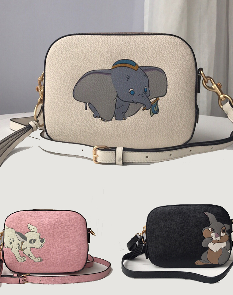 无须代购 仅295元 美国蔻驰Coach最新 Disney迪士尼联名 小飞象系列卡通相机包  单肩斜挎小方包