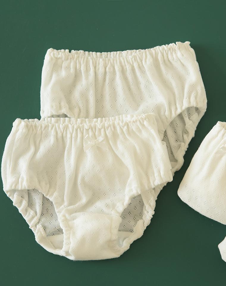 看的见的舒适!!!仅22元 日本西松屋三件套装  纯棉网眼内裤  男童女童超透气舒适 无荧光剂A类  内裤