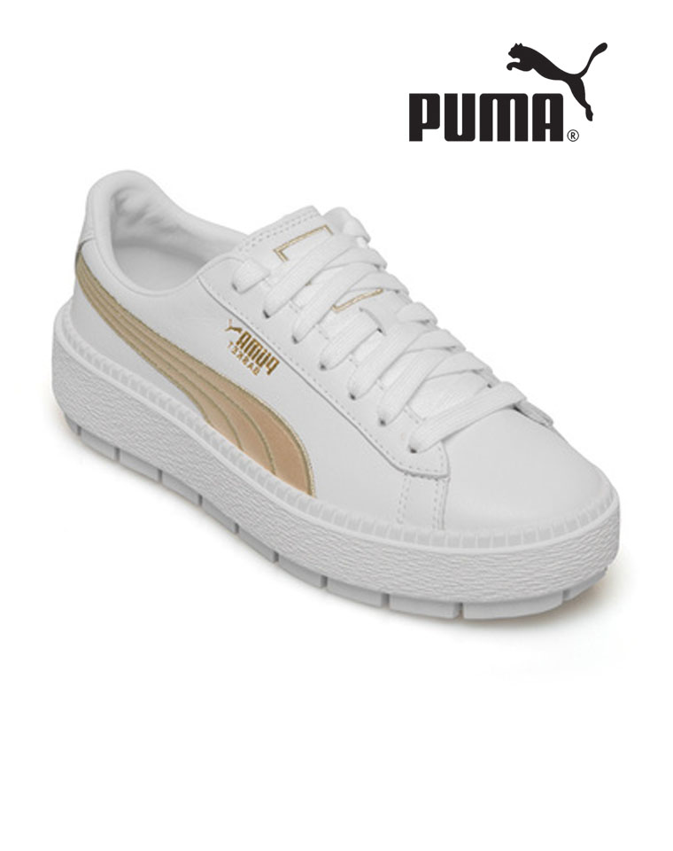 渠道好货 仅258元  Puma彪马 Suede Platform  电光绣蕾哈娜松糕底板鞋