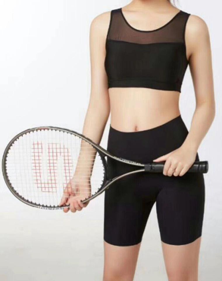 包裹感NO1 独立胸垫  仅69.9元  外贸订单  透视柔软纱网拼接 超舒适背心式运动文胸内衣