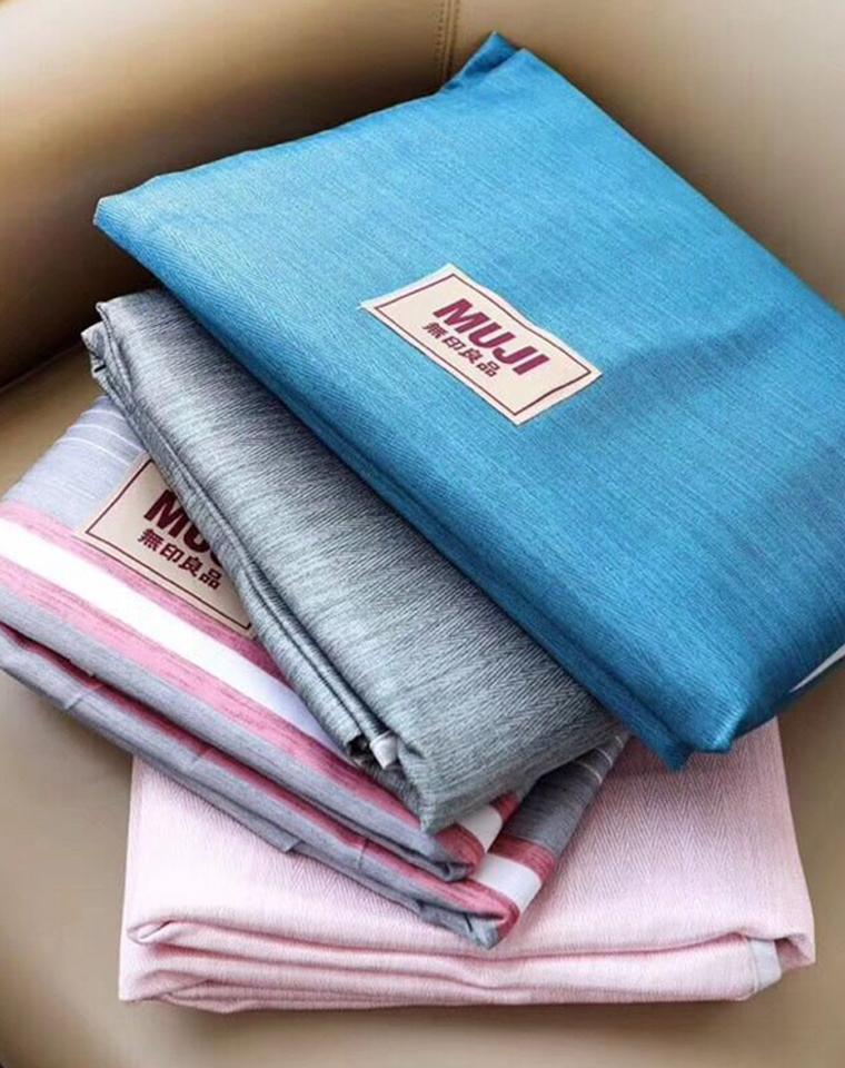 高颜值可机洗  仅79元 MUJI无印良品纯正原单   纳米冰丝材质 可折叠冰丝凉席   冰丝三件套