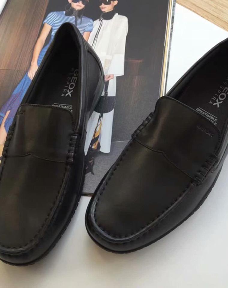 父亲节给孩儿爸  全牛皮 给老爸  仅328元  贵一点好太多  GEOX纯正原单 19新款 男士莫卡辛豆豆底平底鞋