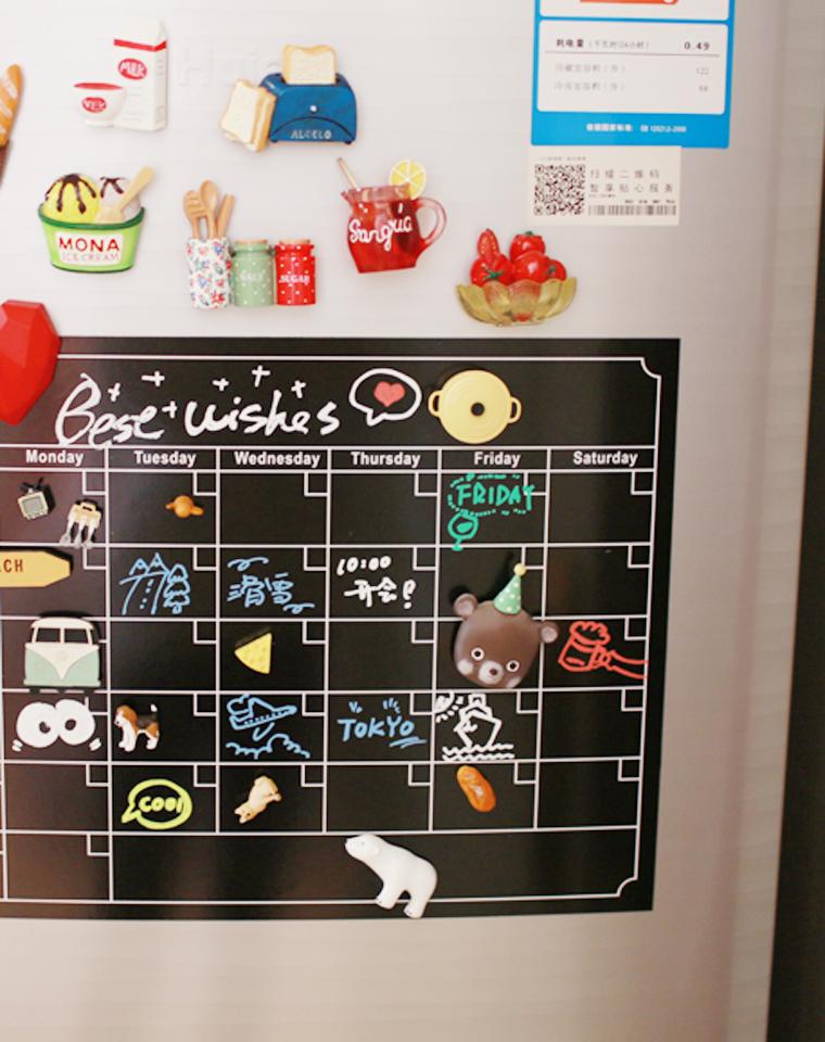 时间管理好帮手!!送专用可擦除笔一只!!仅29元  亚马逊订单 软磁冰箱贴  简约格子计划表 月任务计划留言板留言贴