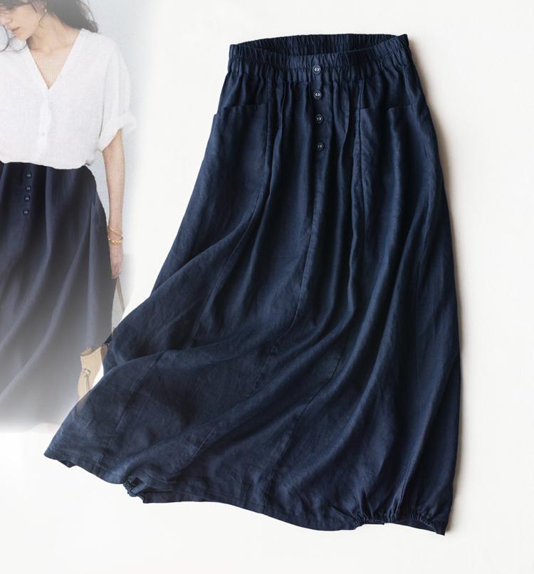 最养人的亚麻  仅108元  超显瘦气质文艺 超清凉100%亚麻半身裙!高品质酷夏亚麻裙