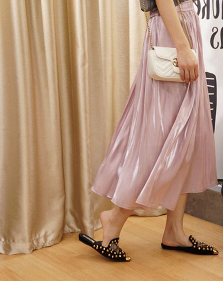 超美贝母流光裙  仅95元 自带高级流 日本客供面料 飘逸优雅 轻盈透气半身裙百褶裙