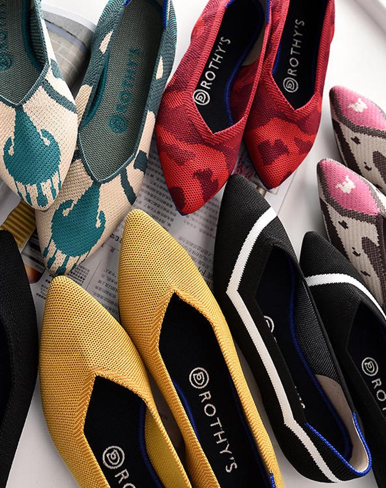 美炸天!这个草必须拔!!!高颜值还舒适!!!可机洗!! 仅245元  美国小众品牌Rothys纯正原单   3D无缝王妃鞋