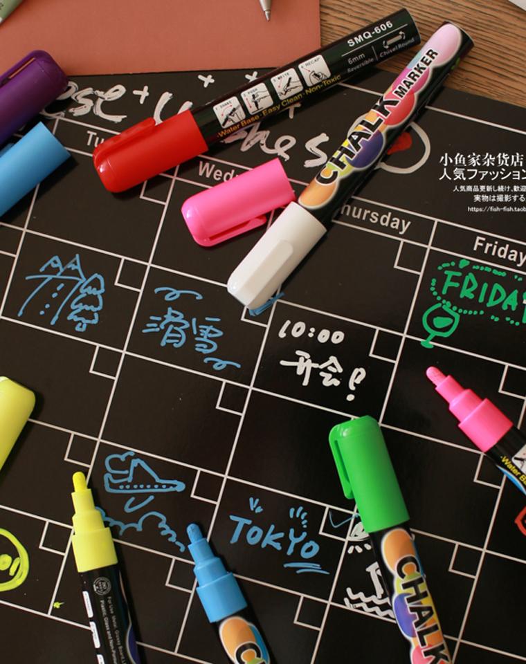 孩子超爱  仅29.9元一套 8色涂鸦荧光笔   可擦液体粉笔水溶性粉笔套装