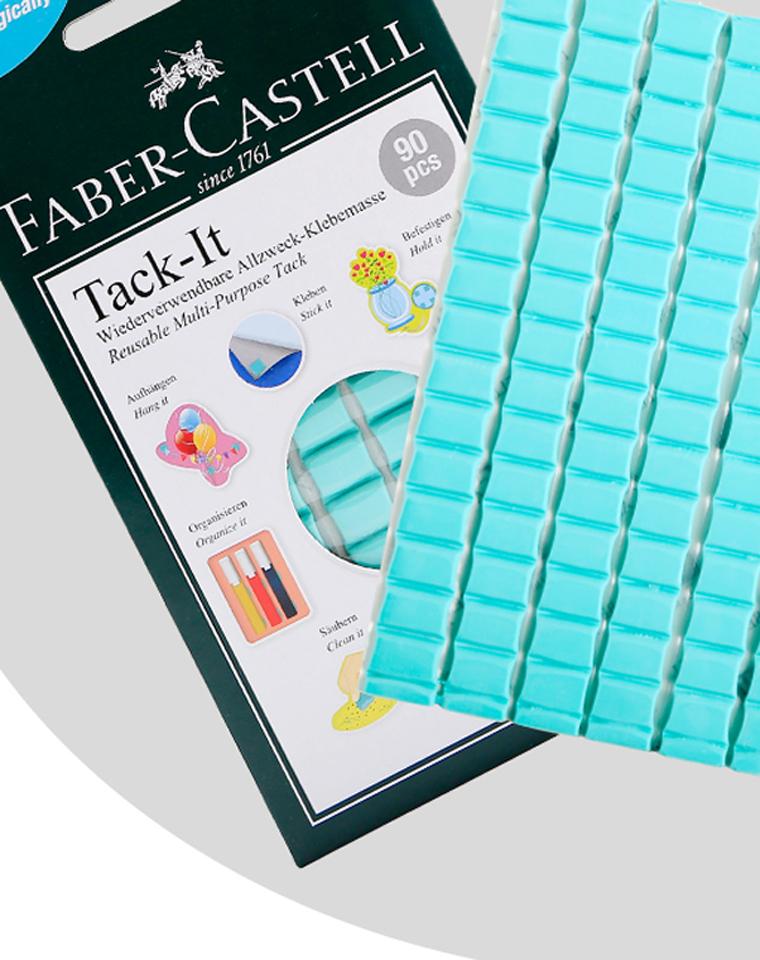 家家都要有的蓝丁胶!!!各种好用!! 仅9.9元!! 德国Faber-Castell辉柏嘉订单 万能粘土贴 免钉无痕相框墙面黏 装饰双面贴