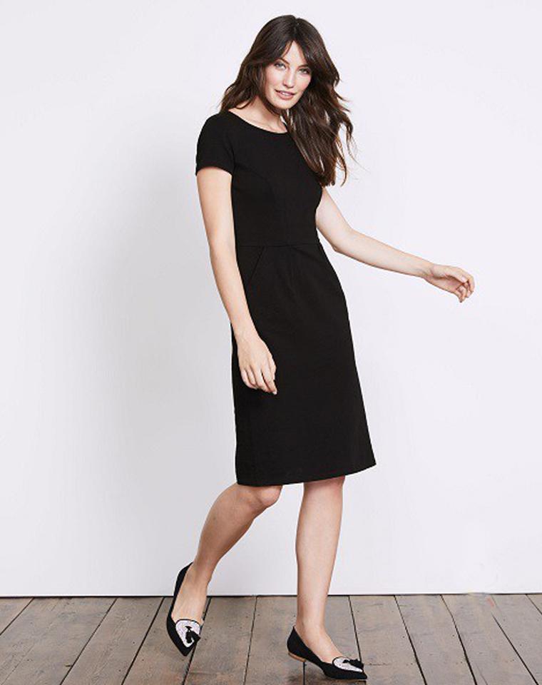久违的英国老牌boden! 仅118元  简洁收腰插兜  舒适弹力显瘦连衣裙 OL通勤裙