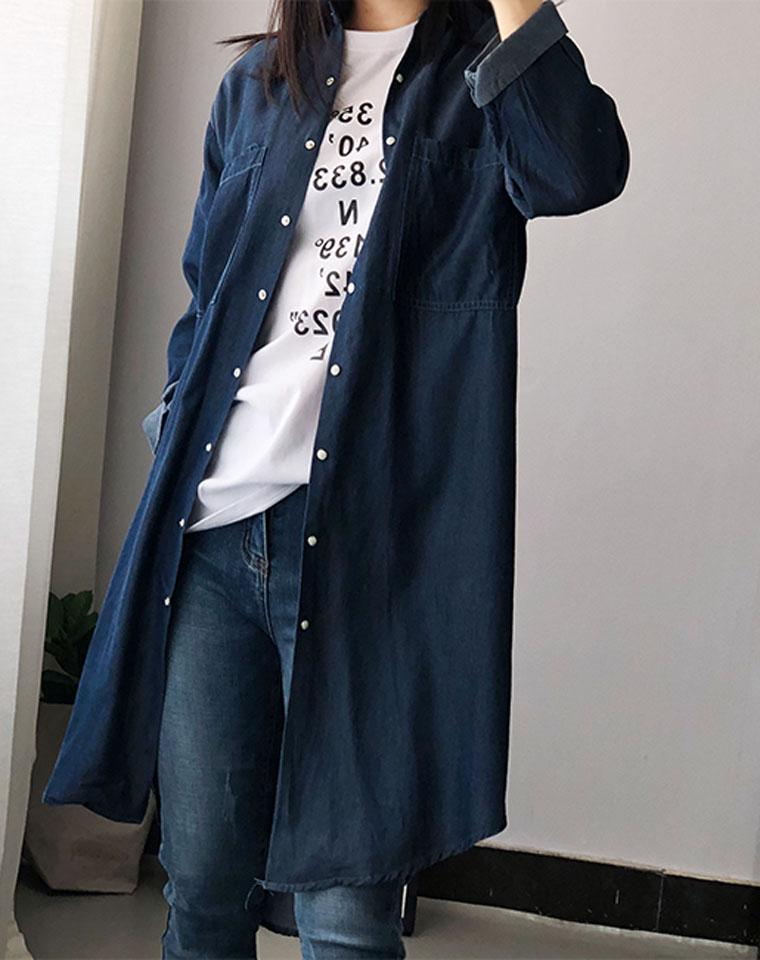 超值好货  仅95元  英国Pimkie纯正原单  垂感天丝面料 薄款牛仔 显瘦七分袖长款风衣  牛仔风衣外套