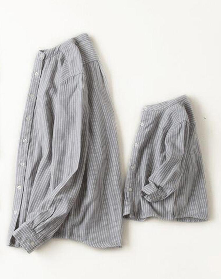 新出儿童款  亲妈必收 可配亲子 仅85元 日本MUJI无印良品纯正原单 男童女童皆可  印度棉双层纱织 小立领衬衫 防晒衫