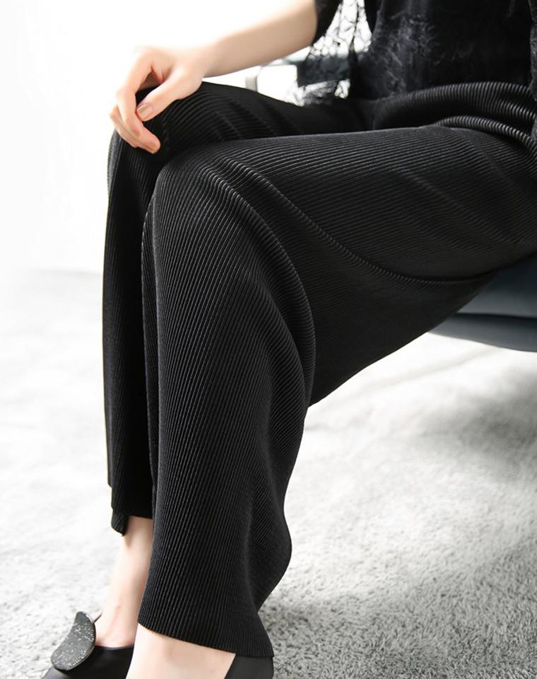 全身装满小弹簧,云淡风轻的显瘦! 仅95元!!!!日本订单  厚实绒丝 随意剪 阔腿长裤