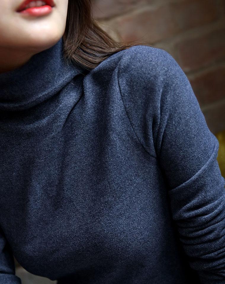走心团品闭眼收  仅75元 新型双面磨毛  高领打底衫针织衫 2019秋冬季新款加绒百搭