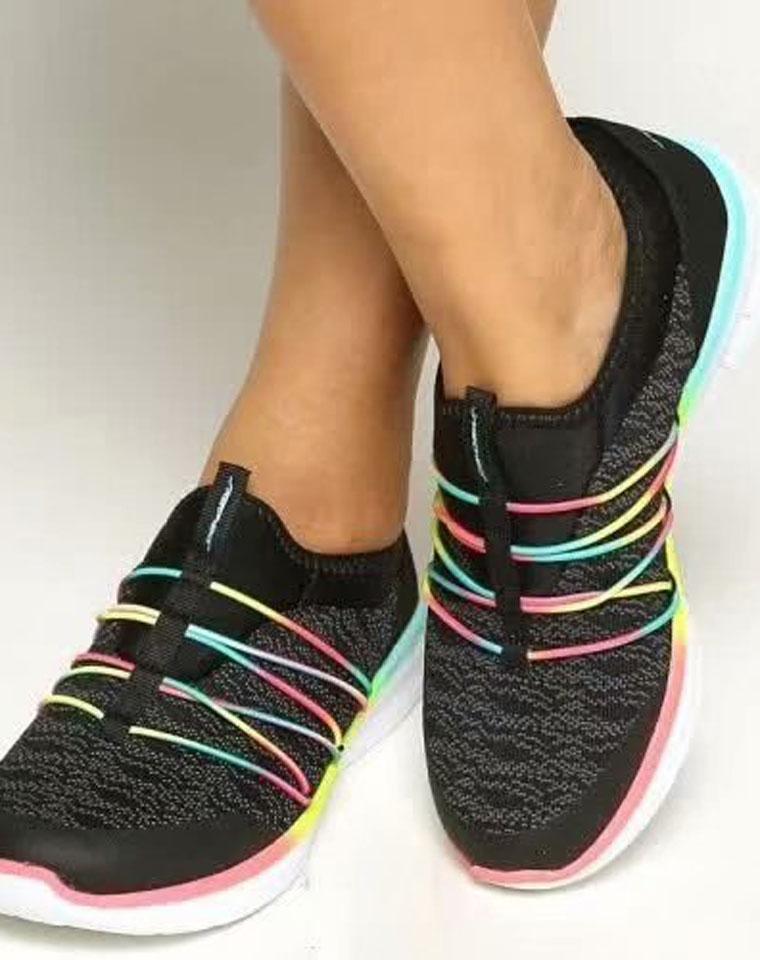 超值捡漏 超级舒适 !!仅128元    Skechers(斯凯奇)纯正原单 升级SYNERGY 2.0系列  橡筋装饰 女款一脚蹬运动鞋