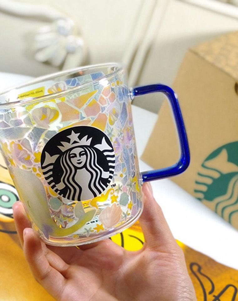 馈赠佳品  仅108元 Starbucks(星巴克)日本限定款 海洋风系列 玻璃杯