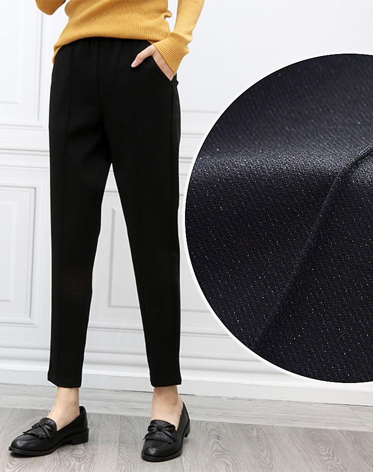 高端通勤 爆炸好看 仅98元   客供亮丝 前中压缝   超级显瘦 亮丝小黑裤 通勤裤