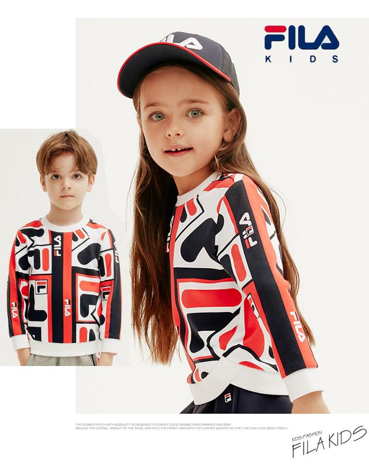 亲妈必收 超洋气套装   男童女童都好穿~ 仅99元 FILA斐乐纯正原单  2019新款秋季  纯棉毛圈 卫衣套装