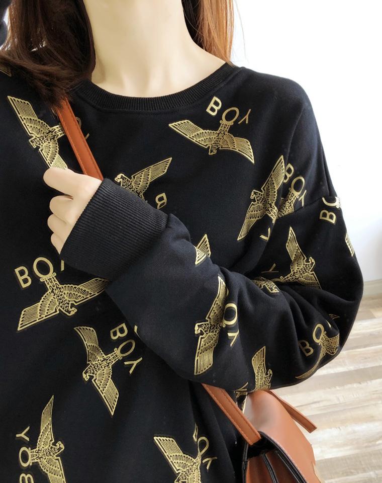 实穿百搭 男女款 仅115元  Boy London纯正原单 超好品质 纯棉毛圈 2019最新  烫金老鹰翅膀 宽松卫衣