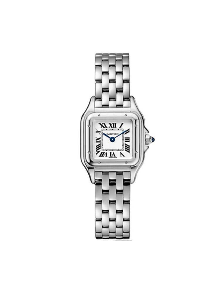 经典小猎豹  特殊渠道 仅1488元 法国 Cartier卡地亚纯正原单  小猎豹石英表 男女款方块复古精钢表链石英手表