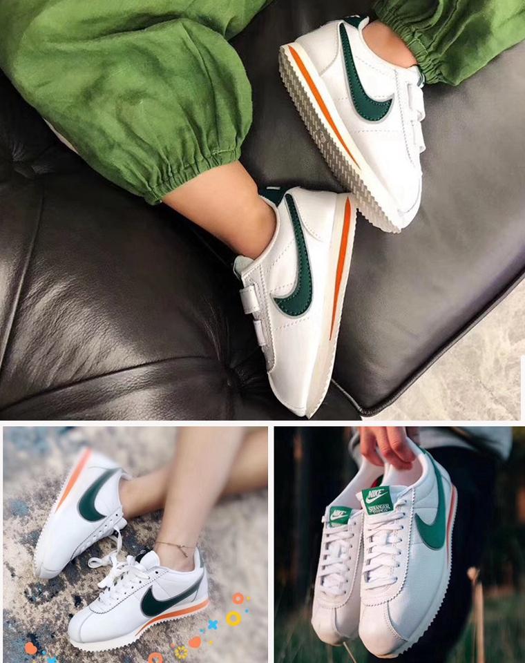 可亲子 超洋气阿甘绿!!仅148元  185元  Stranger Thing.s x Nike Classic Cortez QS 阿甘怪奇物语联名复古慢跑鞋