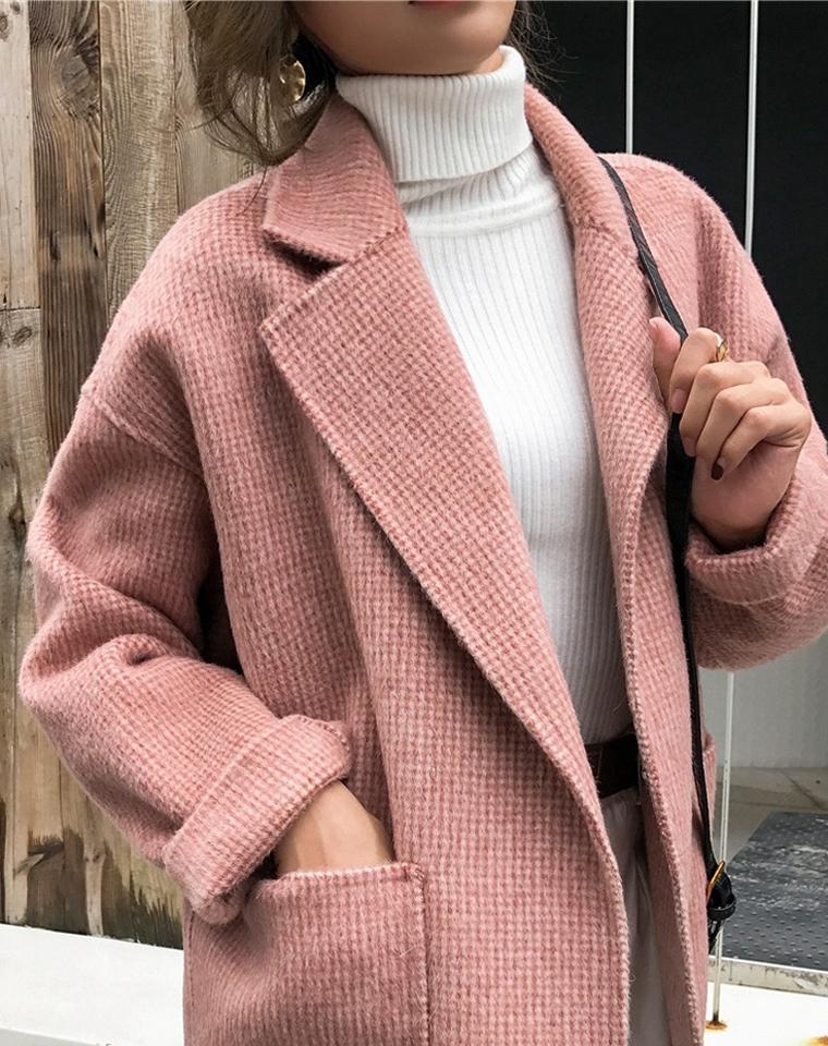 比想象的还要棒!!重磅款!仅318元  飞岛国 羊驼绒 新款日系  双面羊绒大衣 千鸟格毛呢外套