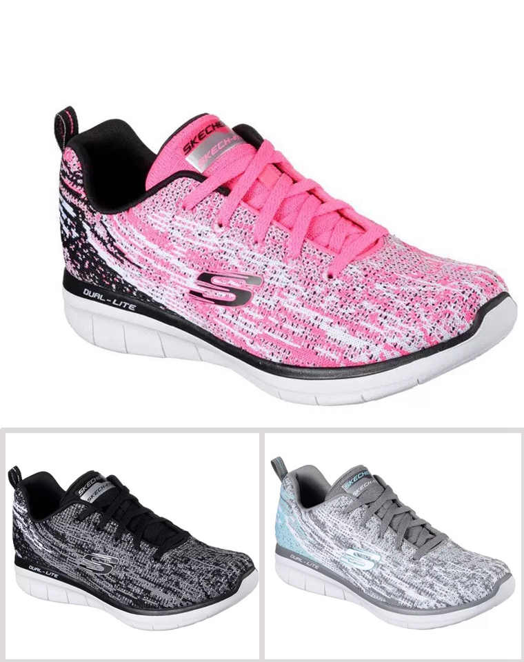 仅125元  超值强推!!Skechers斯凯奇2019海外版  超轻网布休闲鞋 女系绳运动鞋