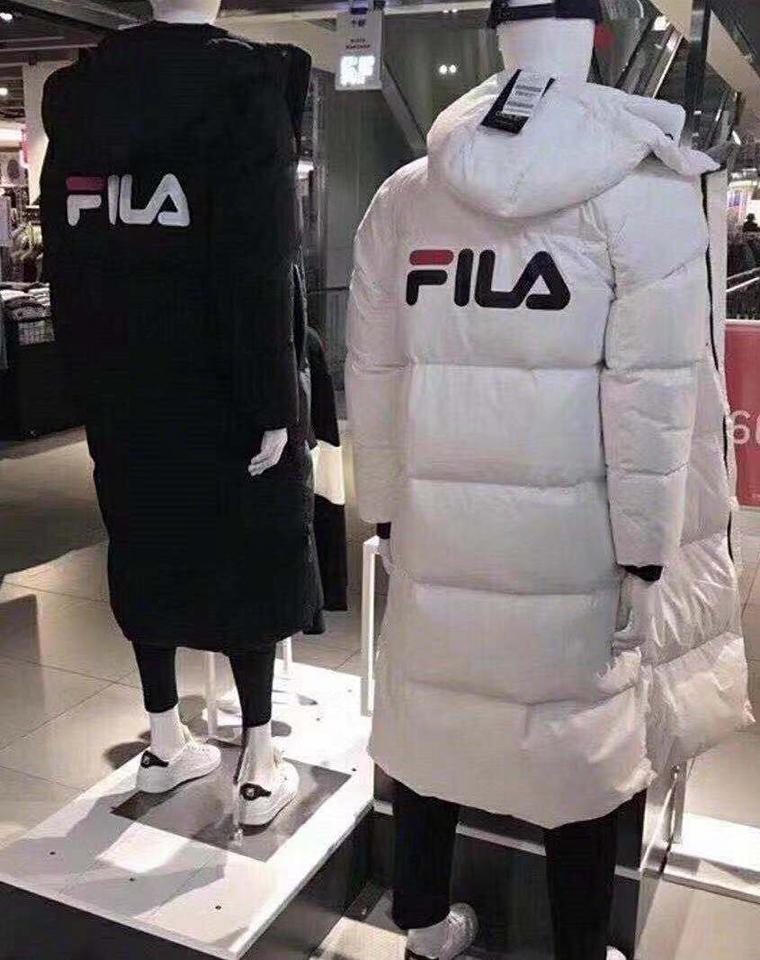 绝对保暖  男女同款  仅498元  Fila纯正原单  长款羽绒服