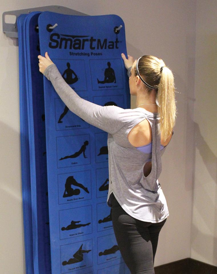 超级牛货!宅家锻炼必备   仅95元  美国Smartmat纯正原单  一批货正反面印有48个瑜伽基本姿势 加厚瑜伽垫