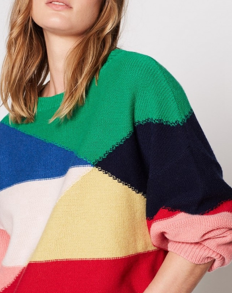 仅185元 最美色块羊绒!! 太出众! 重磅!仅198元 洛杉矶小众红牌Joie纯正原单  宽松蝙蝠袖气质羊毛羊绒毛衣