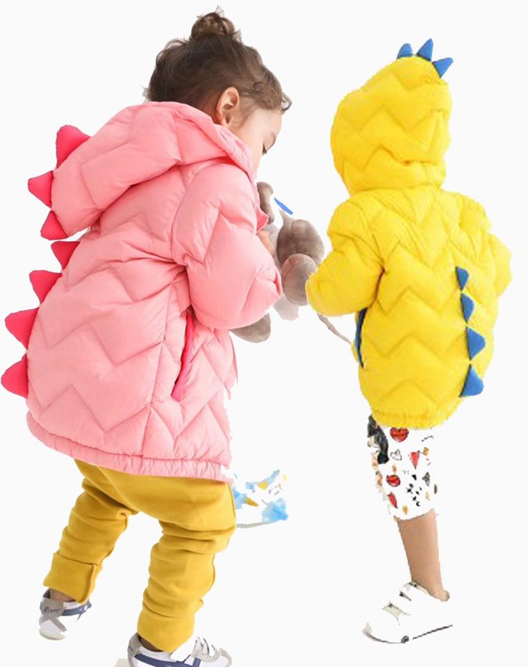 年终钜惠  超萌敲可爱 亲妈必入!!仅185元  法国小众  90白鸭绒  3D小恐龙儿童羽绒服