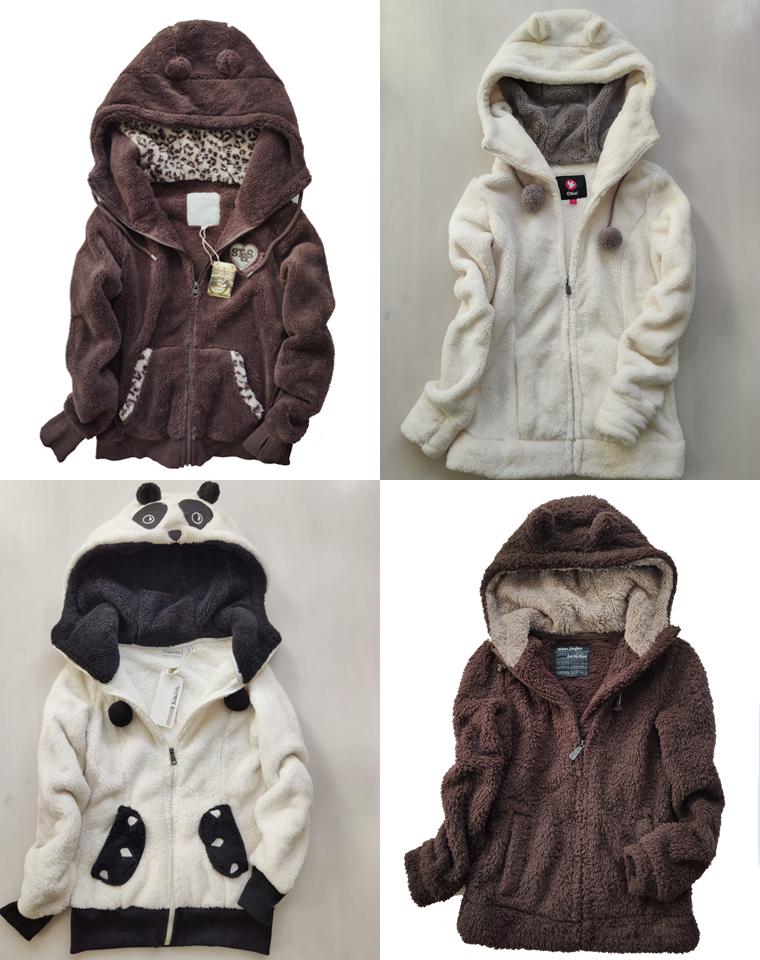 可亲子超萌超软超舒服  仅89元  外贸订单 加厚双面羊羔毛 连帽卫衣 外套