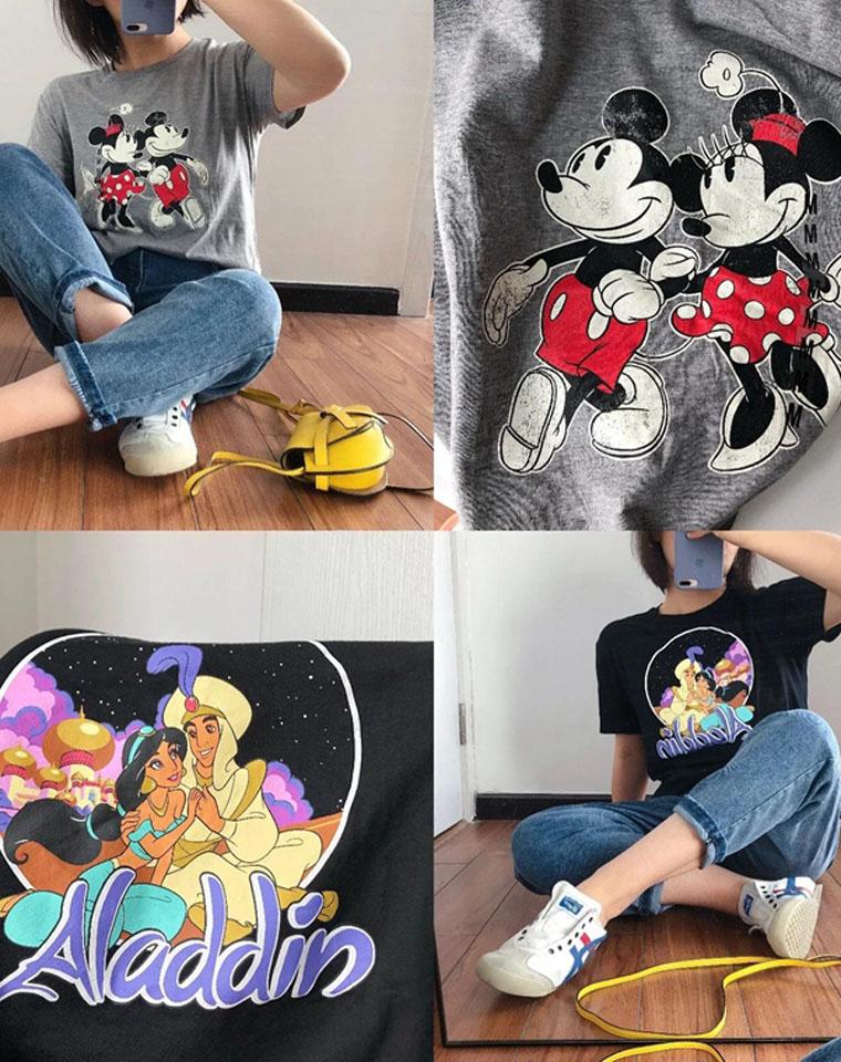 鼠年必须有啊!!米奇鼠就是幸福鼠!!仅55元  Disney迪士尼纯正原单  米奇年必入 经典动画人物舒适棉圆领短袖T恤有大码
