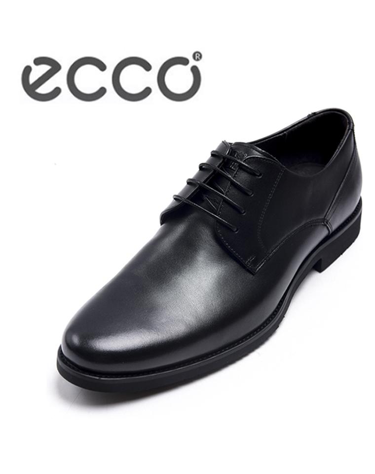 给纯爷们的好货!!! ECCO(爱步)最新  仅248元 男款软面牛皮  系带商务皮鞋 正装鞋