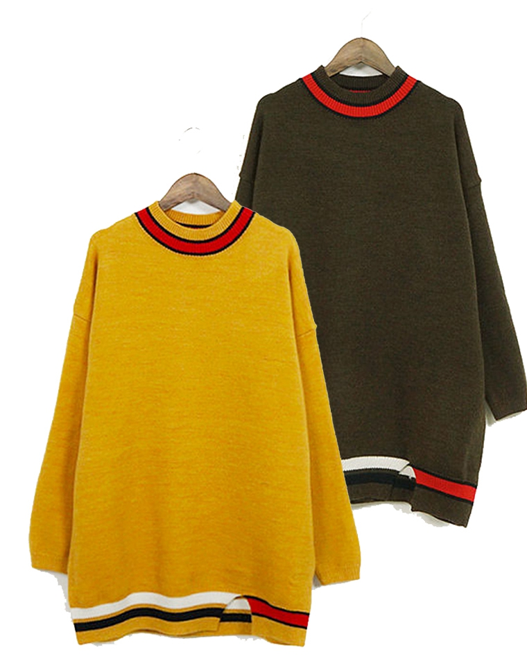 超值捡漏  实穿百搭 仅78元  日本订单  羊毛廓形 下摆小开叉 半高领 中长羊毛套装